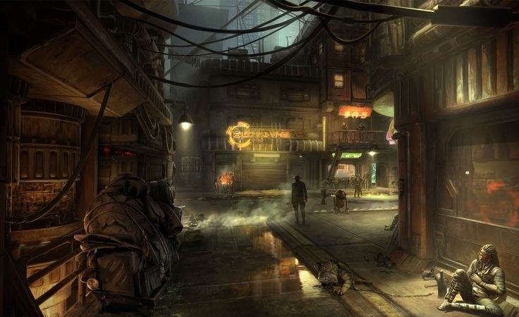 Artwork from the planned Star Wars 1313 - I'll never forgive them for not making this RPG.