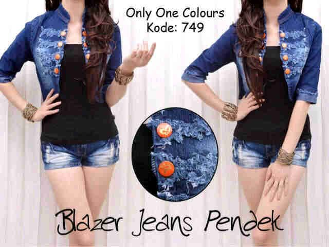 VA ! RV 41-749 'blezer jeans oren button' no inner,s@85rb,close 7nop,ready 27jan