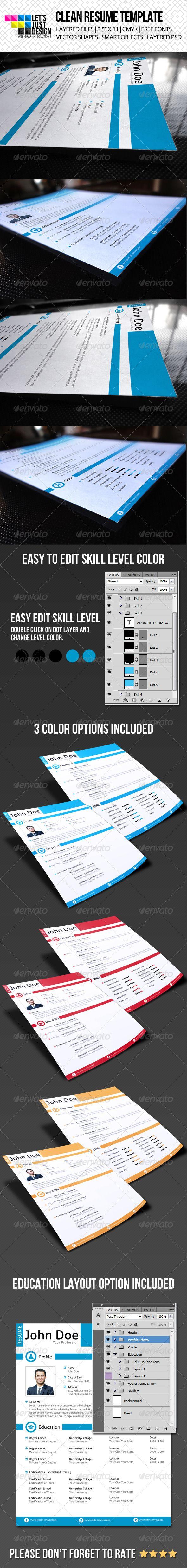 1749 best Minimal Resume images on Pinterest | Print templates ...