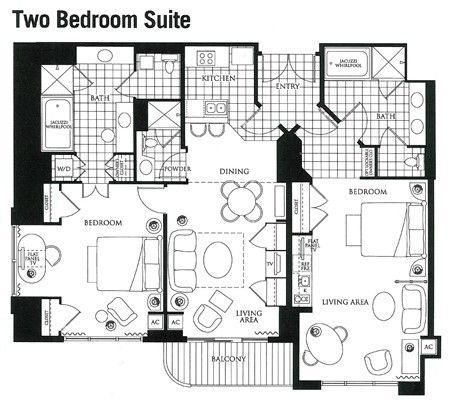 Mgm Two Bedroom Suites | Homedesignview.co
