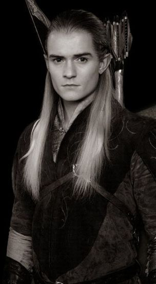Legolas  - Oddly enough, not an Orlando Bloom fan except as Legolas - I think it's the Vulcan ears and blonde hair.  LOL.