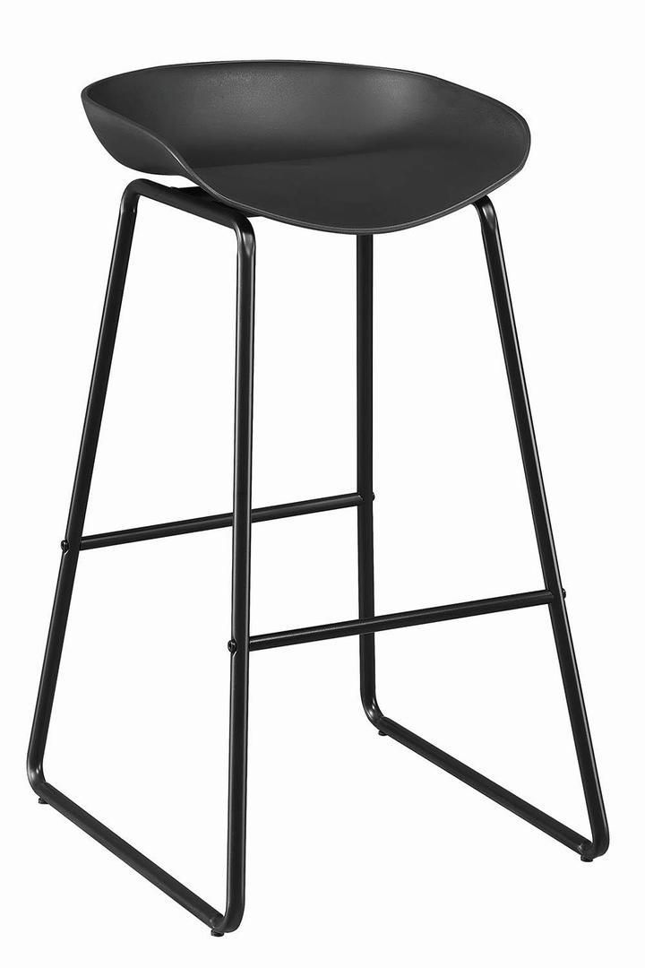 Coaster Black Finish Backless 30 Counter Height Stool Set Of 2