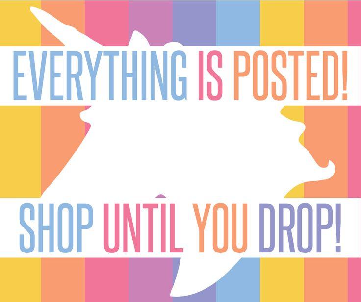 lularoe unicorn graphic, shop is now open, shop until you drop!