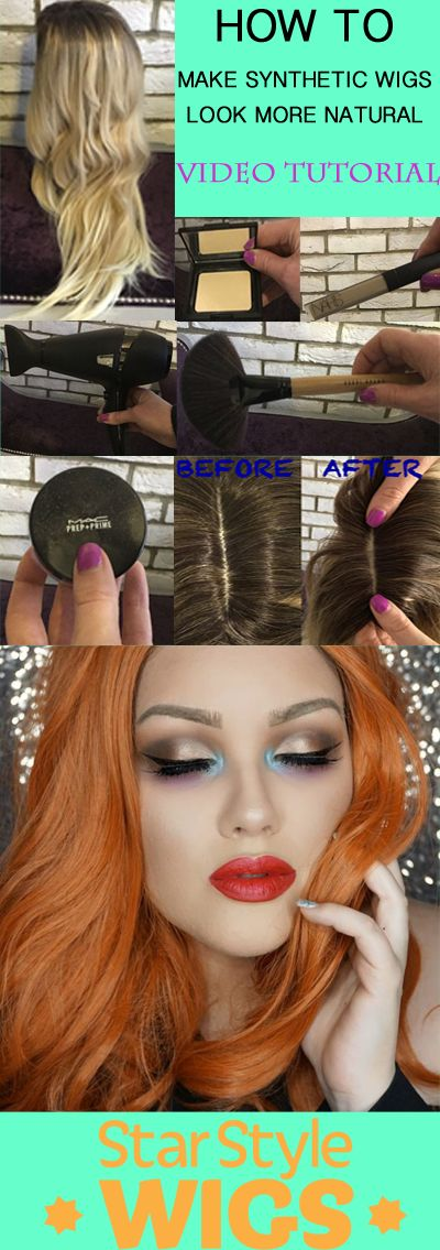 WATCH: How To Make Synthetic Wigs Look More Natural. Full Video Tutorial with step by step guide using every day beauty utensils and products for the most natural looking hair, for any synthetic wig. Quick and easy tips for beginners and wig enthusiasts.