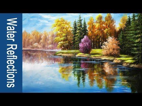Painting an autumn landscape [Tutoriel acrylique] – Youtube