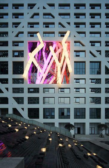 Sliced Porosity Block, Chengdu, China by Steven Holl Architects