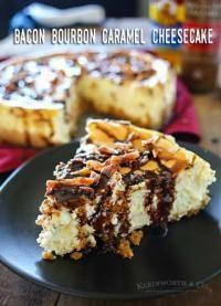 Bacon Bourbon Caramel Cheesecake on MyRecipeMagic.com