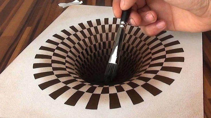 L'artiste allemand Stefan Pabst réalise des illusions d'optique impressionnantes en peignant des portraits et des oeuvres en 3D.