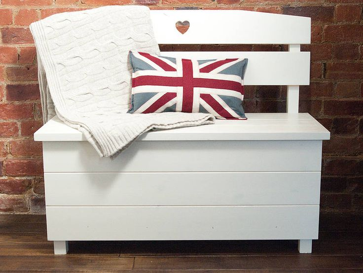 pine storage bench - double seat by the orchard | notonthehighstreet.com