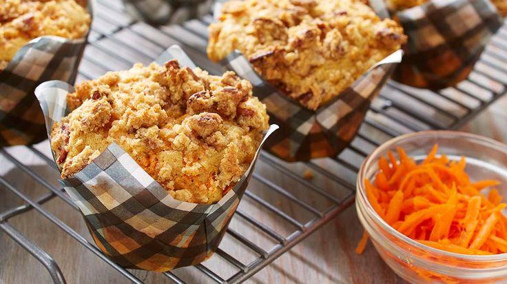 Muffins aux carottes moelleux et croquants