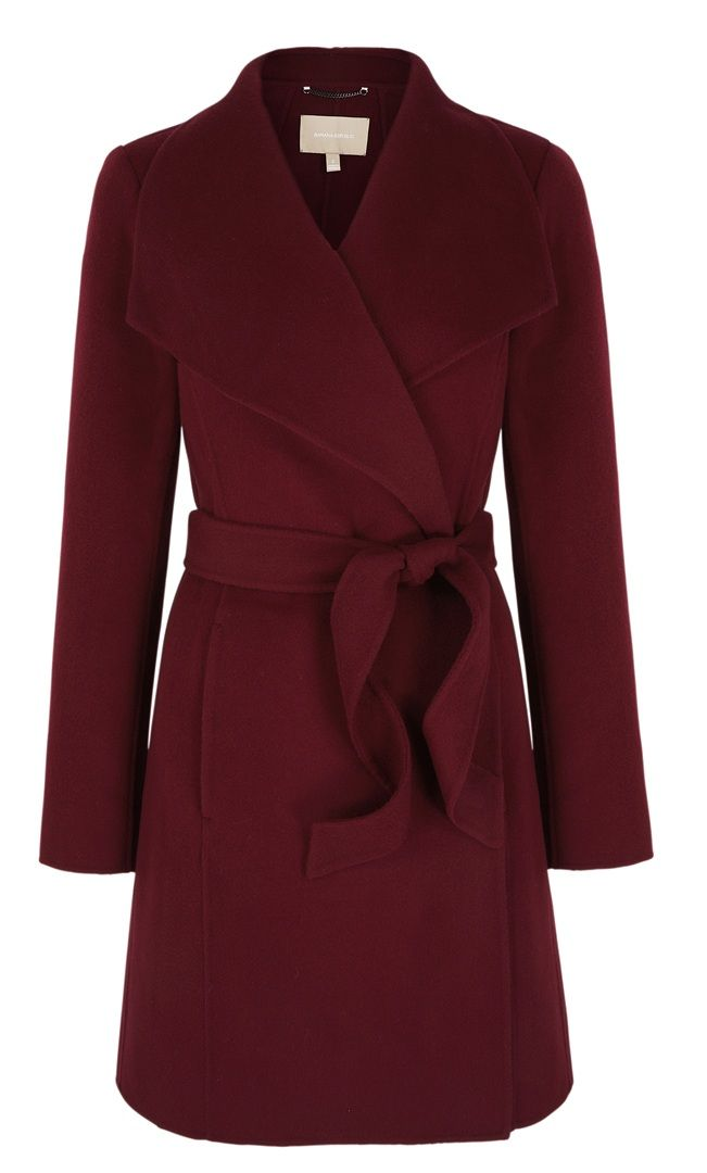 Look Hot when the weather gets cool. Cranberry Trench - Banana Republic