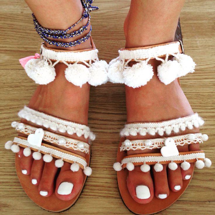 Bridal handmade boho sandals