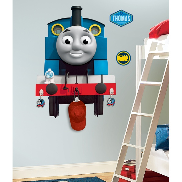Awesome Thomas The Tank Engine Giant Wall Sticker Even Has Hooks So You Can Hand  Stuff From