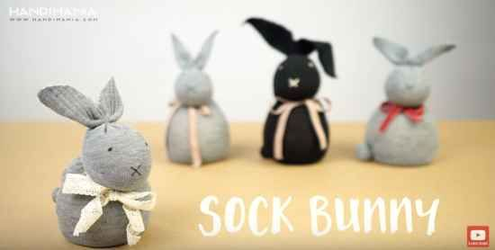 No-Sew Rice Sock Bunny For Easter