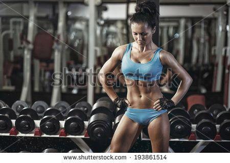 Fitness Girl Gym Fotografie, snímky a obrázky   Shutterstock
