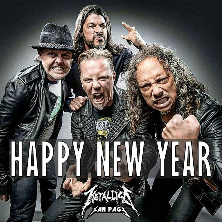 """Happy new year Metallica Family !  #Metallica #HappyNewYear #2016"""