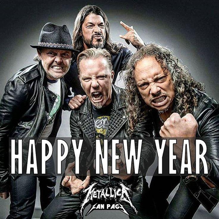 """Happy new year Metallica Family !  #Metallica #HappyNewYear #2016"""