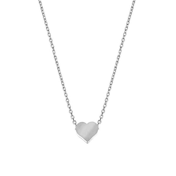 MINNIE GRACE silver Heart charm necklace | La Luce