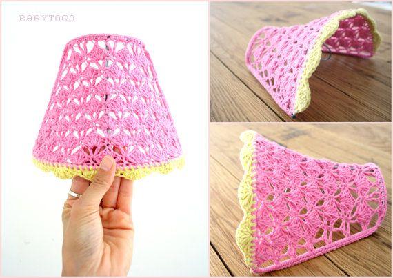 crochet lamp shade / night light crochet lamp shade by babytogo, $50.00