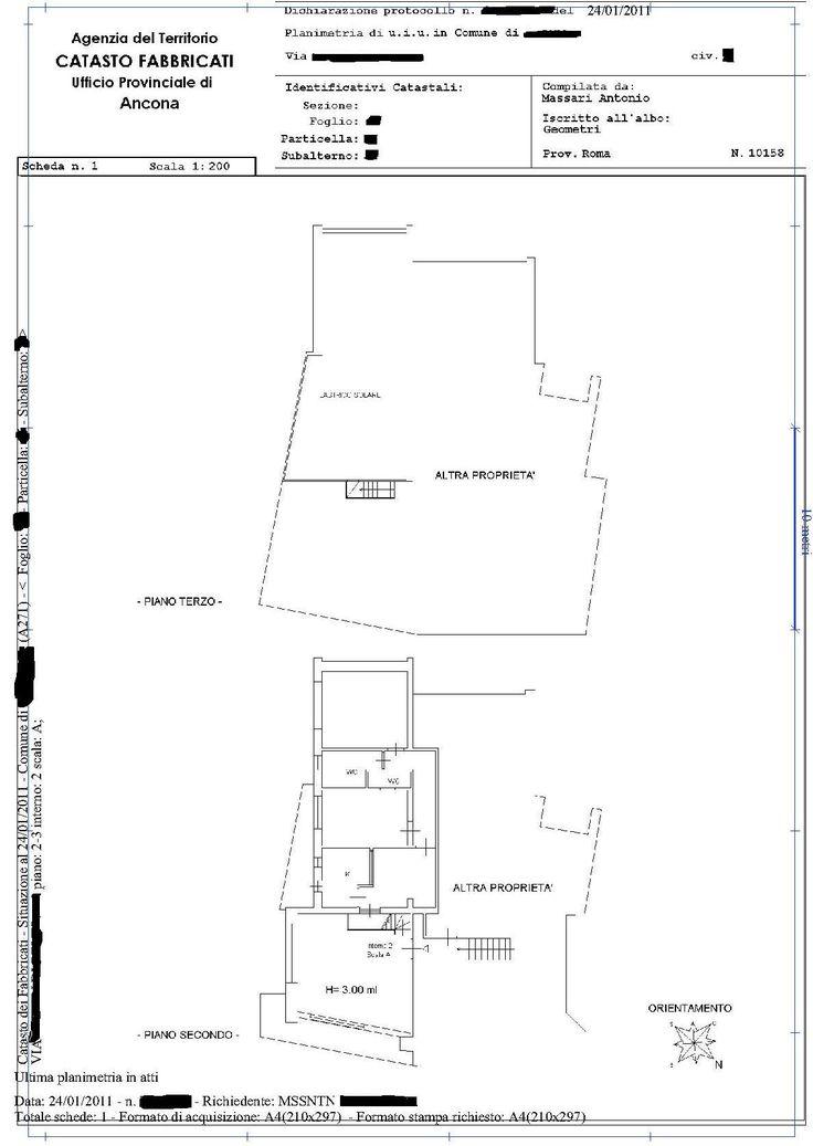Richiesta planimetria catastale rasterizzata online in for Planimetria online gratis