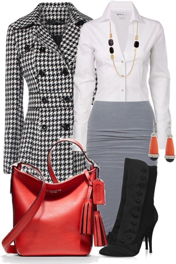 """Business style from the office to a meeting """"coach 3"""" by mayakhan007"""