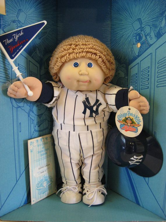 Vintage 1986 NY Yankees Cabbage Patch Kid Doll  In by yankeerose, $75.00