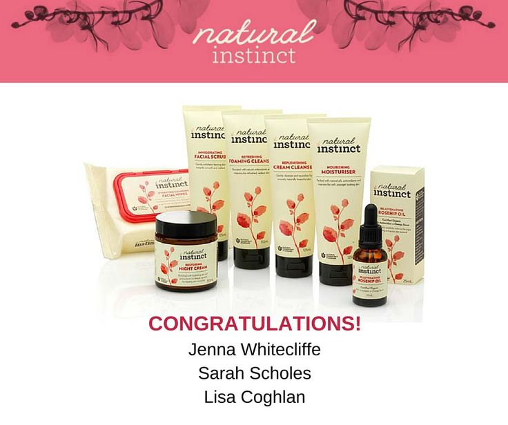 Congratulations to the winners of the Natural Instinct's New Face Care Range Prize in our 'Mother's Day Giveaway' contest! Thanks to everyone who participated and helped make this contest a success! Stay tuned for our next contest coming very soon!
