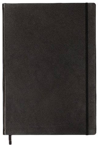 Leuchtturn1917 330569 Notebook Master (A4+), Black leather cover, 233 numbered pages, dotted. £70.07