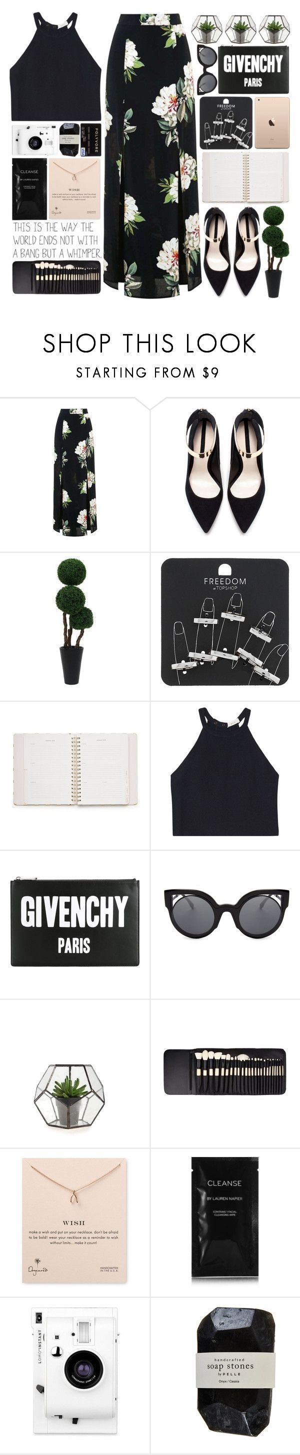 """Bad Liar"" by puppies241 ❤ liked on Polyvore featuring Topshop, Zara, Kate Spade, A.L.C., Givenchy, Fendi, Dogeared, Cleanse by Lauren Napier, Lomography and Cassia"