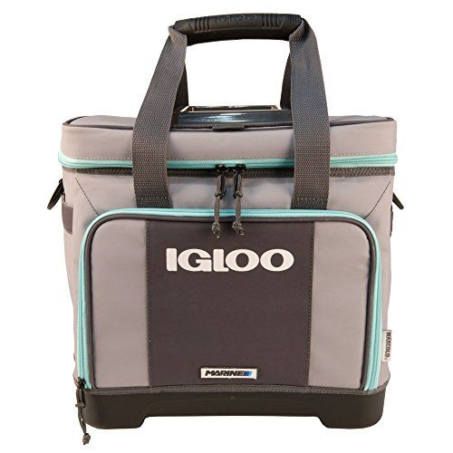 Igloo Stout Divided Marine Cooler-Gray/Seafoam, Grey. For product & price info go to:  https://all4hiking.com/products/igloo-stout-divided-marine-cooler-gray-seafoam-grey/