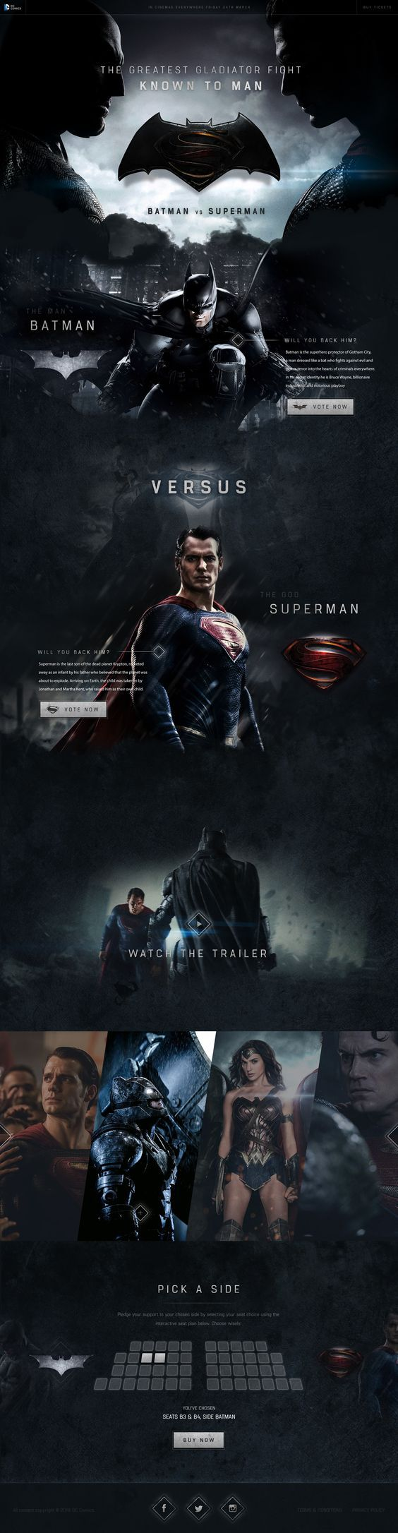 https://dribbble.com/shots/2609276-Batman-vs-Superman-Concept