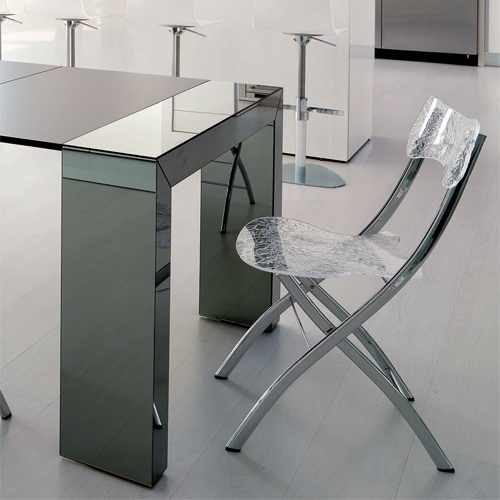 Full time console part time dinner party the goliath glass console dining table effortlessly - Goliath console table ...