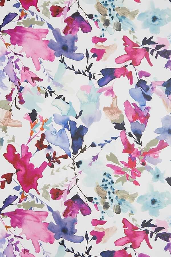 Wildflower Study Wallpaper In 2020 Watercolor Flowers Floral