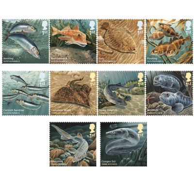 Sustainable Fish Stamp Set at Royal Mail Shop