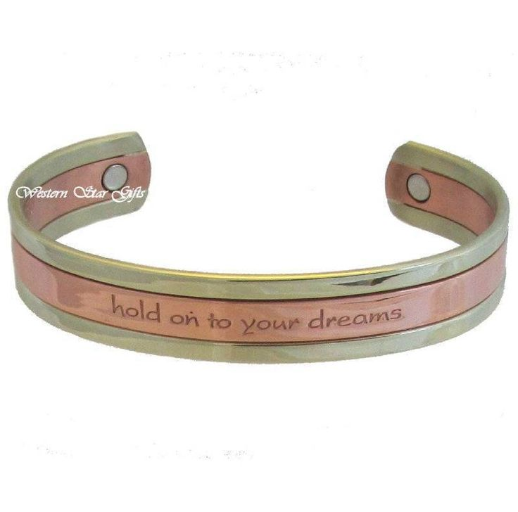 Magnetic Bracelet Silver Copper Message Arthritis Relief Jewelry Hold Dream New | eBay