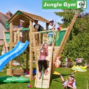 New Jungle Gym Boat Module - Wooden Climbing Frames for children