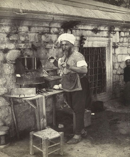 outdoor coffee seller