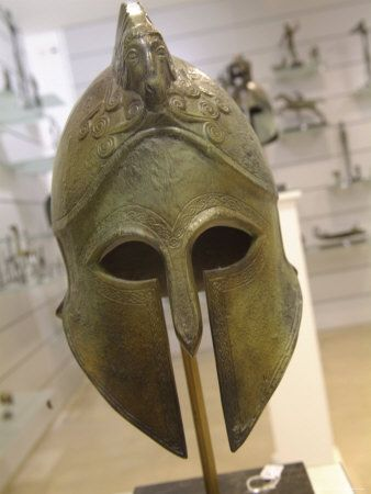 Replica of an Ancient Greek Helmet in the Plaka, Athens, Greece. by Richard Nowitz, from AllPosters.com