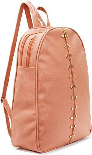 0befa4cf3c4c Studded Casual Purse Fashion School Leather Backpack Shoulder Bag Mini  Backpack for Women   Girls