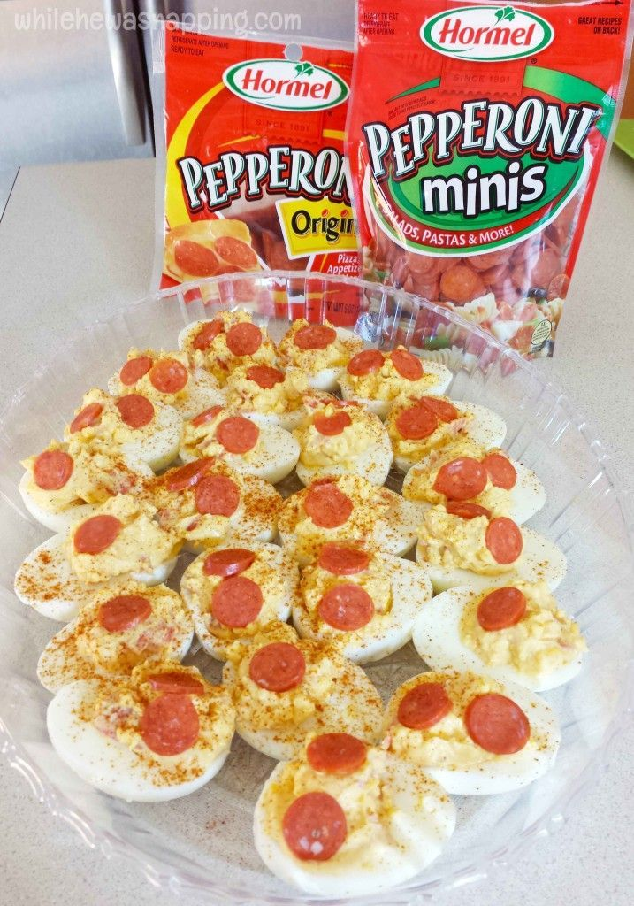 Pep It Up With Fabulous Hormel Pepperoni Stuffed Deviled Eggs #PepItUp #ad