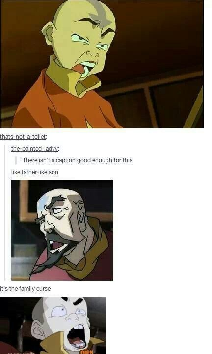 It's not a family curse, derp faces are a avatar thing in general <3 // omg my tumblr post made it to Pinterest