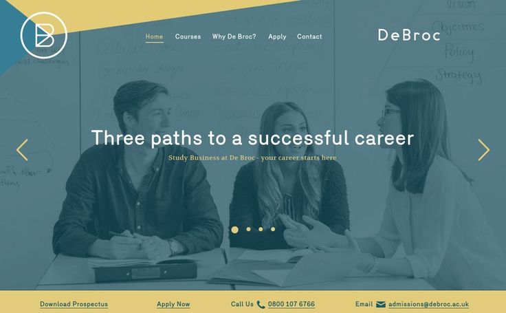 De Broc Business School #web #design