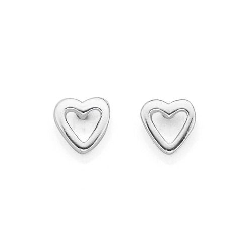 Sterling Silver Heart Studs