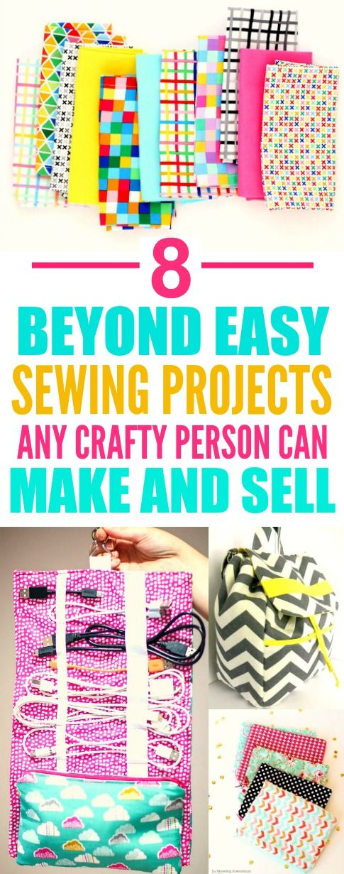 These 8 easy sewing projects you can make and sell are THE BEST! I'm so glad I found this AMAZING post! I am SO pinning for later!