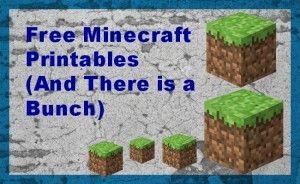Lots and Lots of Free Minecraft Lesson and Printables