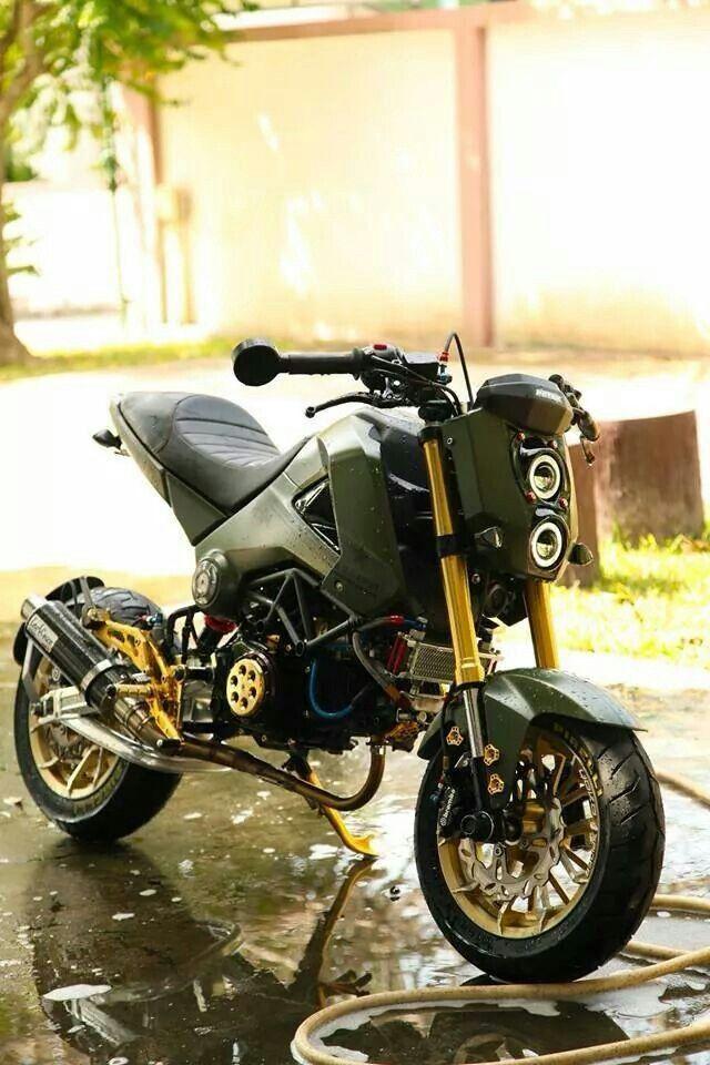 200 custom honda grom msx125 pictures photo gallery for Honda grom scrambler kit