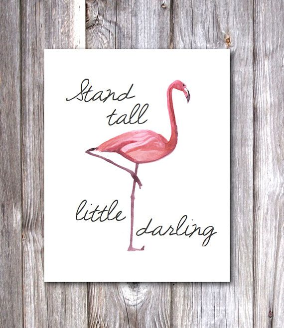 Flamingo Stand Tall Printable PDF by TheJustPeachyShop on Etsy