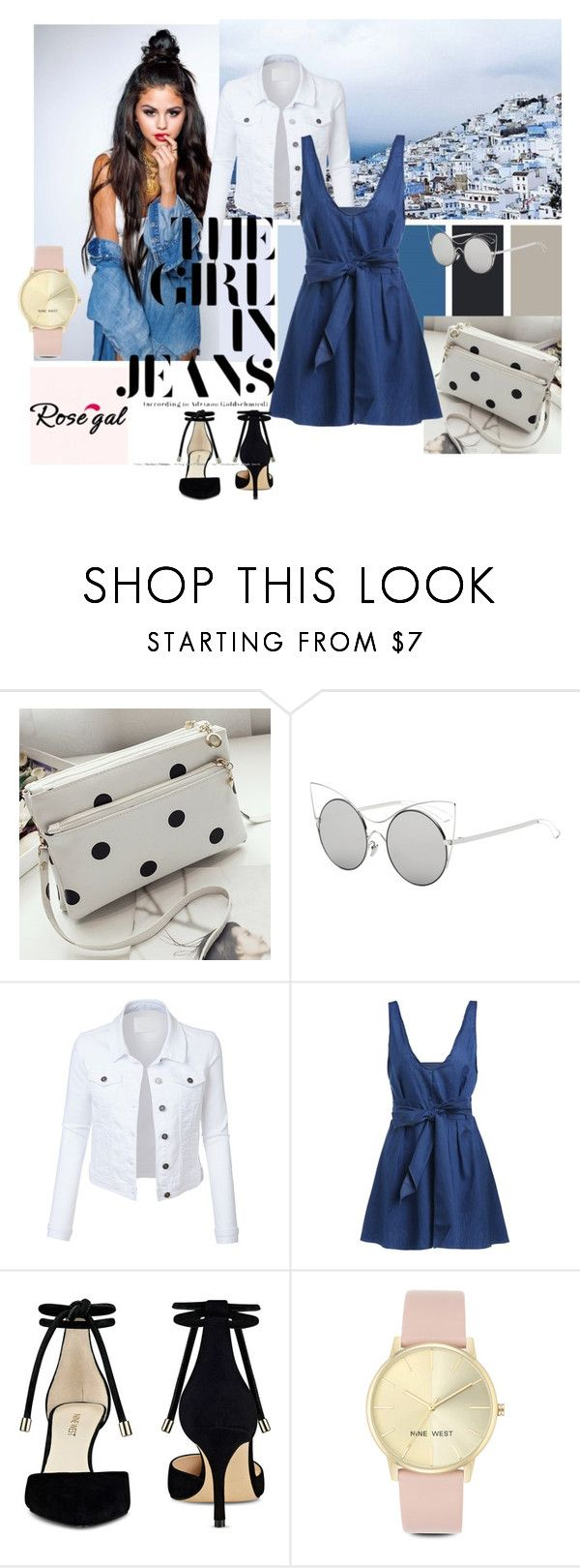 """""""Rosegal"""" by aidaaa1992 ❤ liked on Polyvore featuring LE3NO and Nine West"""