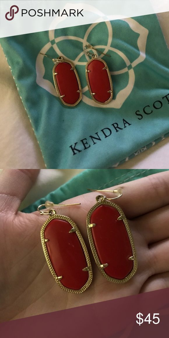Kendra Scott Elle Earrings Kendra Scott Elle Earrings in Red- only worn once! Kendra Scott Jewelry Earrings