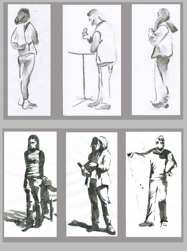 Набросков с натуры пост наброски, зарисовка, рисунок, рисунок тушью, скетч, длиннопост